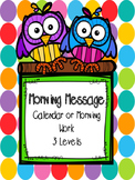 Mornings Message (calendar or morning work)