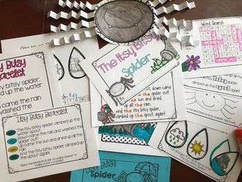 Morning Work with Mother Goose: Itsy Bitsy Spider FREEBIE
