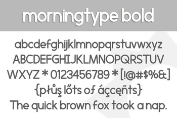 Morningtype Bold Font for Commercial Use