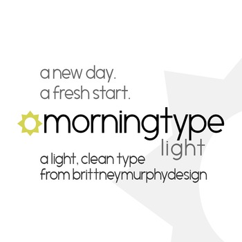 Morningtype Light Font for Commercial Use