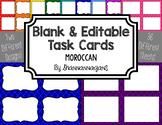 Blank Task Cards - Basics: Moroccan | Editable PowerPoint