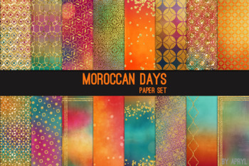 Moroccan Days 12x12 Printable Scrapbook Paper Texture Background