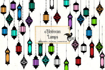 Moroccan Lamps, turkish lantern clipart, Indian Bollywood lights clip art