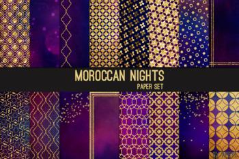 Moroccan Nights 12x12 Printable Scrapbook Paper Texture Background