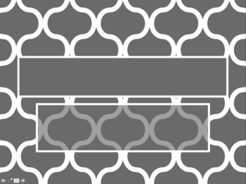 Moroccan Pattern Grey PowerPoint Template