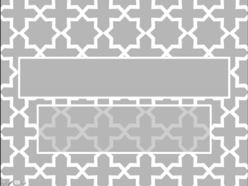 Moroccan Star Pattern Light Grey PowerPoint Template