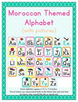Moroccan Themed Classroom ABC Printables (with pictures)