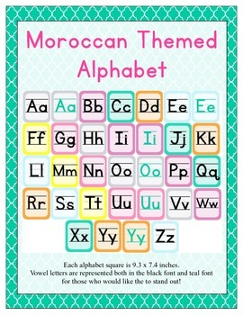 Moroccan Themed Classroom ABC Printables