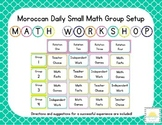 Moroccan Themed Classroom Math/Center Workshop Setup
