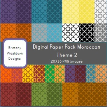 Moroccan Themed Digital Paper Backgrounds Pack 2