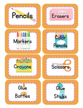 Moroccan Themed Classroom Supply Tags