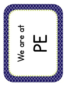 "Moroccan Themed ""Where Are We"" Cards"