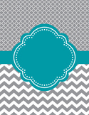 Moroccan and Chevron Binder and Spine Covers ~ Two Versions