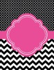 Moroccan and Chevron Binder Covers ~ Two Versions both Black and Pink