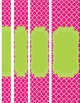 Moroccan and Chevron Binder Covers ~ Two Versions both Lime Green and Pink