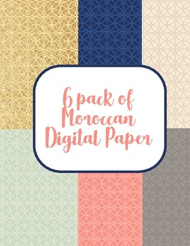 Moroccan digital paper pack (with glitter)