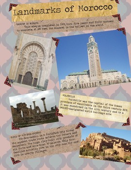 Morocco Country Study Scrapbook