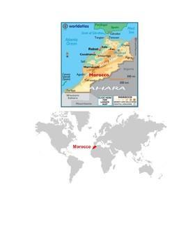 Morocco Map Scavenger Hunt