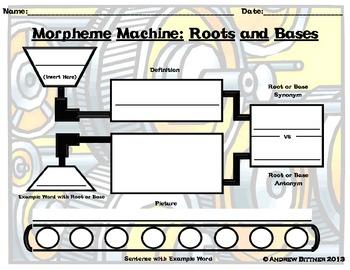 Morpheme Machine Roots/Bases Graphic Organizer