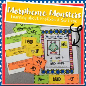 Morpheme Monsters: Resources for Learning About Prefixes and Suffixes