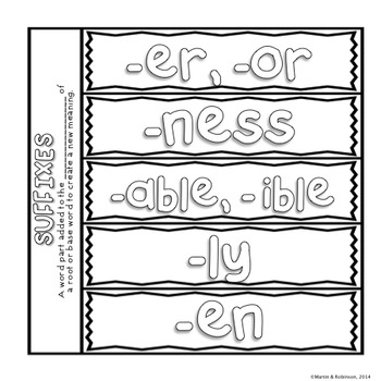 Morphemes - Prefixes, Suffixes and Root Words - CCSS Aligned