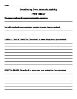 Morphing 2 Animals Fact Sheet - Long