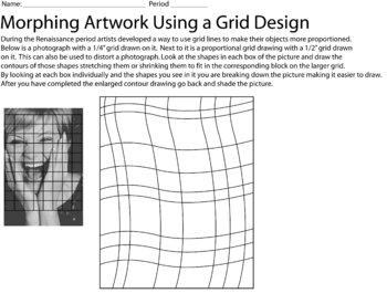 Morphing a Photo Grid Worksheet