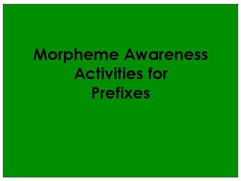 Morphological Awareness Activities for  Lower Level Orton Gillingham
