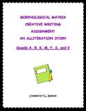 Morphological Matrix Creative Writing Activities - Alliteration Stories