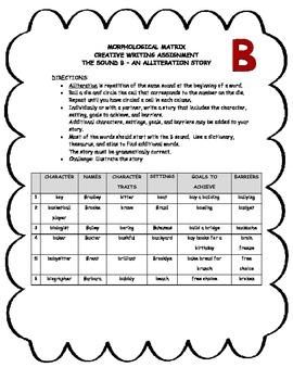 Morphological Matrix Creative Writing Assignment - The sound B