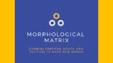 Morphological Matrix- combining prefixes, roots, and suffixes- Orton Gillingham