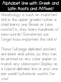 Morphology Alphabet Line