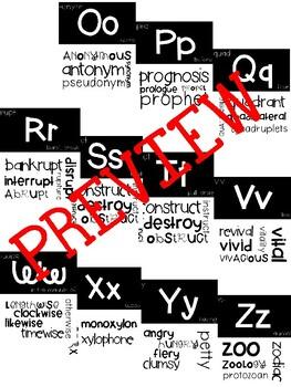 Morphology Alphabet Line