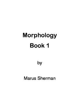 Morphology Book 1