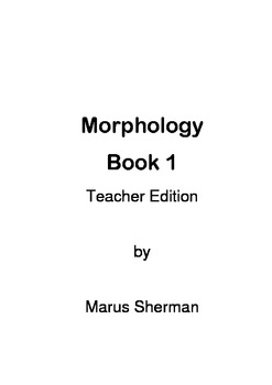 Morphology Book 1 Teacher Edition