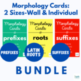 BUNDLE Morphology Cards (2 Sizes: Wall and Individual/Drill)