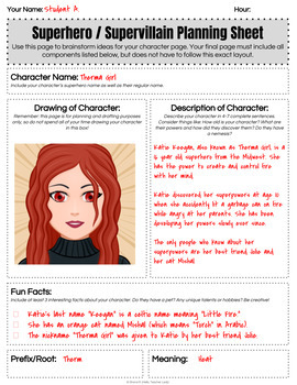Morphology (Prefix & Root Words) Superhero Activity - Complete Project
