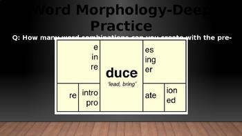 Morphology Word Pratice