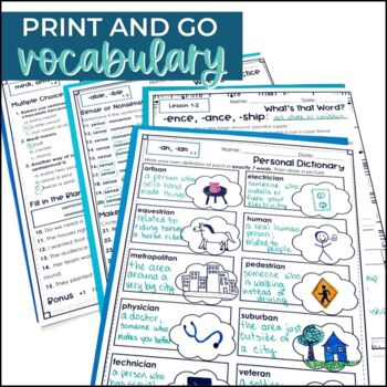 Vocabulary Roots Word Study for Grades 5-6 - FREE WEEK
