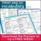 Vocabulary Roots Word Study for grades 5-6 - Unit 2