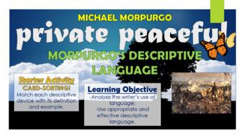 Private Peaceful: Morpugo's Descriptive Language!