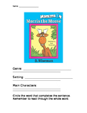 Morris the Moose Comprehension Packet
