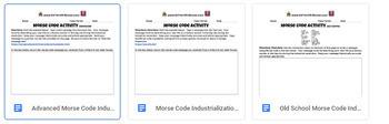 Morse Code Industrial Revolution Activity