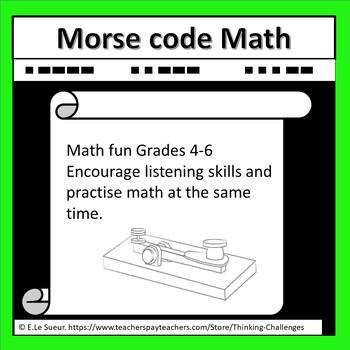 Morse Code Math