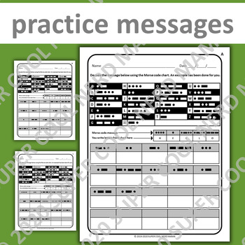Morse Code Practice By Super Cool Nerd Mama Teachers Pay Teachers