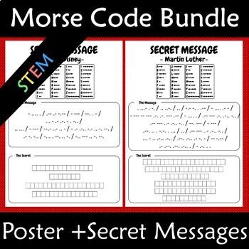 Morse Code Secret Codes and Poster Bundle