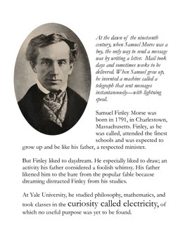 Morse Code, with Lightning Speed Samuel Morse and the Telegraph