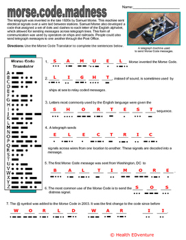 Literacy  and Social Studies:  Morse Code