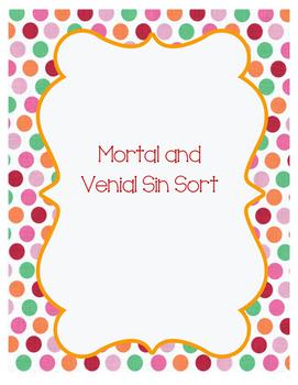 Mortal and Venial Sin Sort