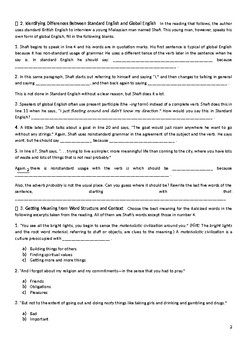 Mosaic 2 chapter 5 student worksheet
